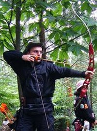 Me shooting recurve