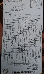 B Course - Score card