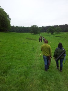 The walk back on Saturday - not in the rain