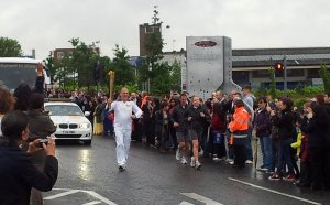 Olympic Torch bearer in Leicester