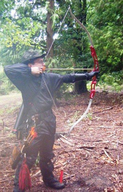 Me shooting my Samick Vision 1