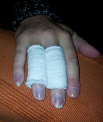 Sharons hand