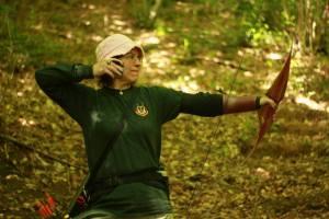 Sharon shooting at Hawk Archers