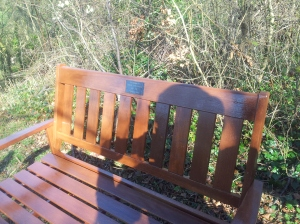 Bench donated to the club in memory of Pete