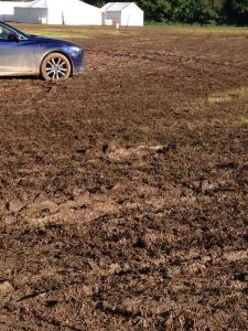 Slightly muddy field