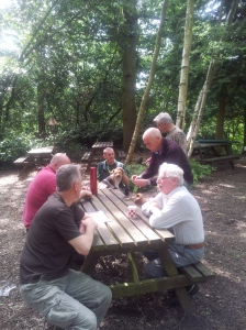 Some of the club having a chat