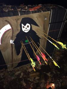The grim reaper with a few arrows