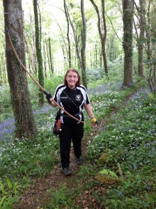 B course - Jill with her longbow