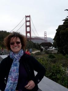 Sharon at Golden Gate