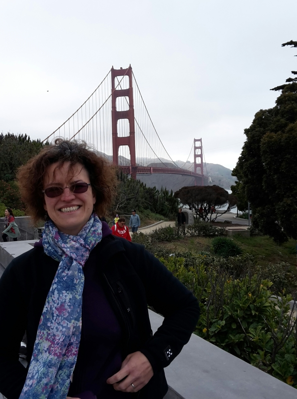 Sharon at Golden Gate