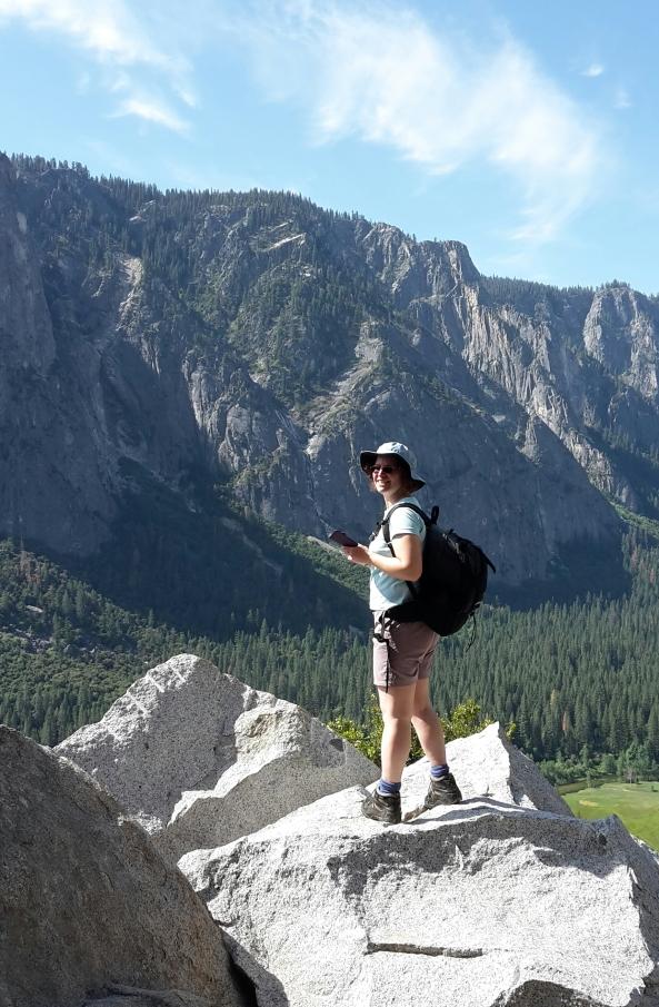 Hike up to Yosemite Upper falls