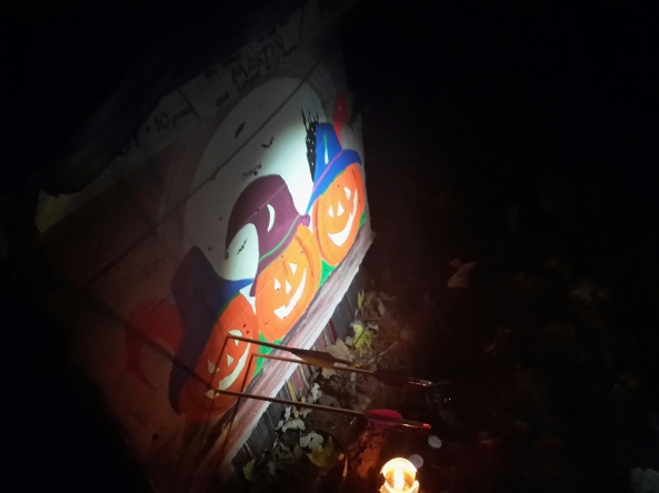 Themed pumpkin target