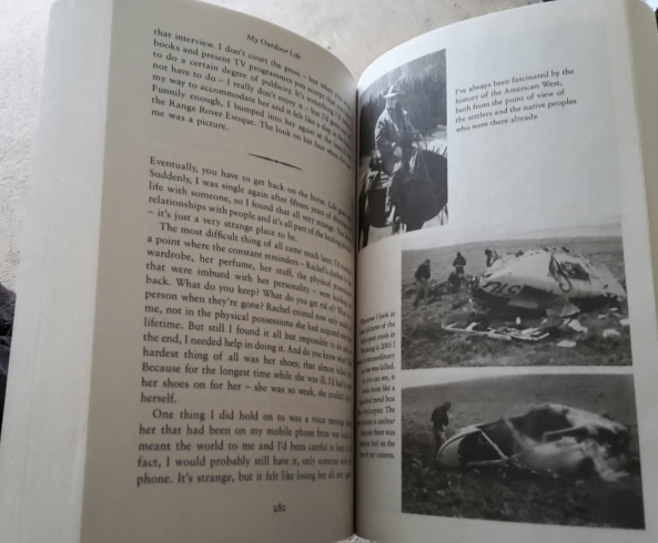 Ray Mears inside the book