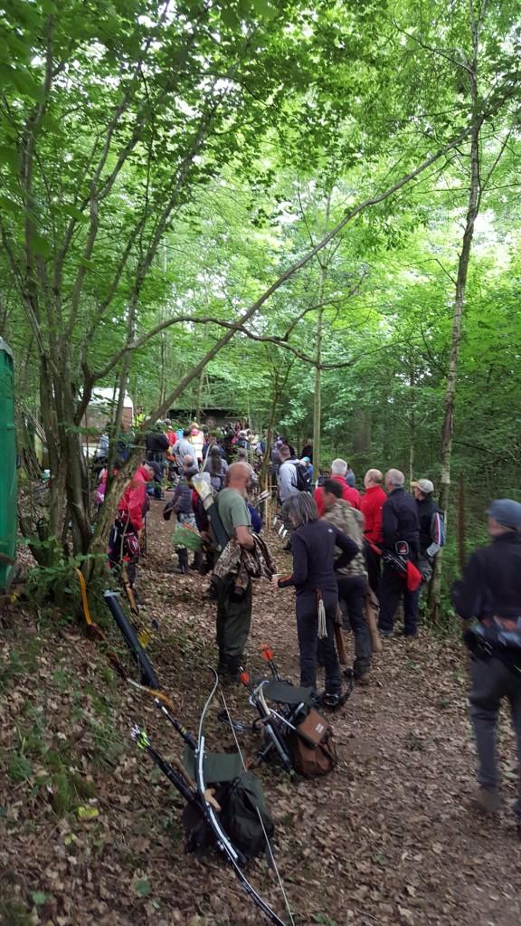 Hawk Club and archers massing