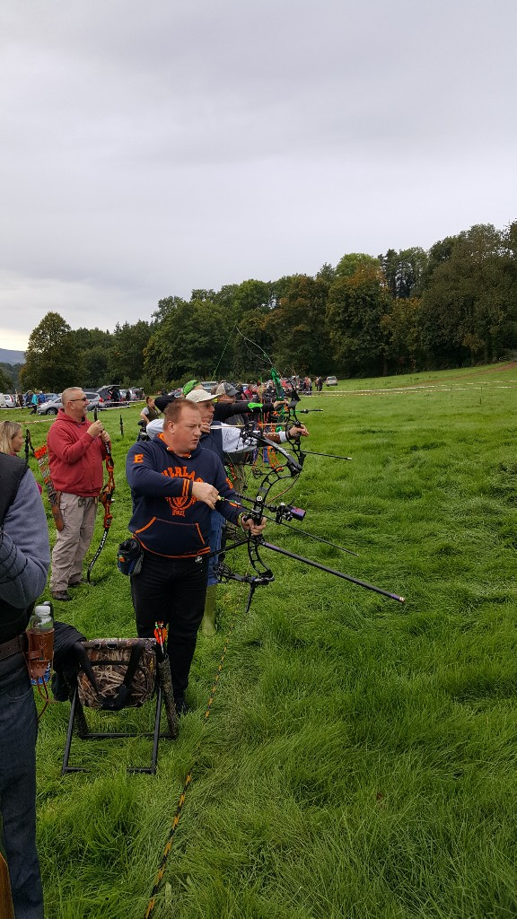 Archers on the shooting line
