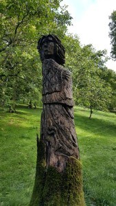 Some of the wood carving in the fort area