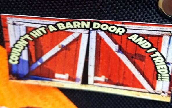 If you missed the barn door you got the sticker