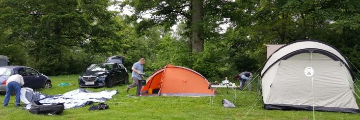 3D camp site set up