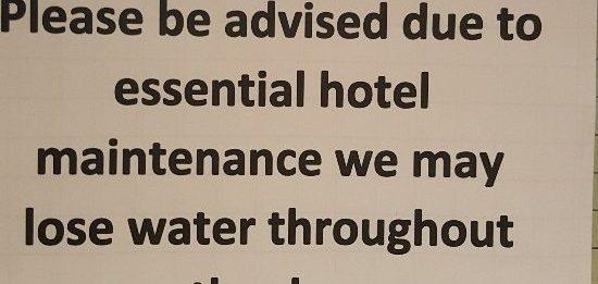 Not impressive notice