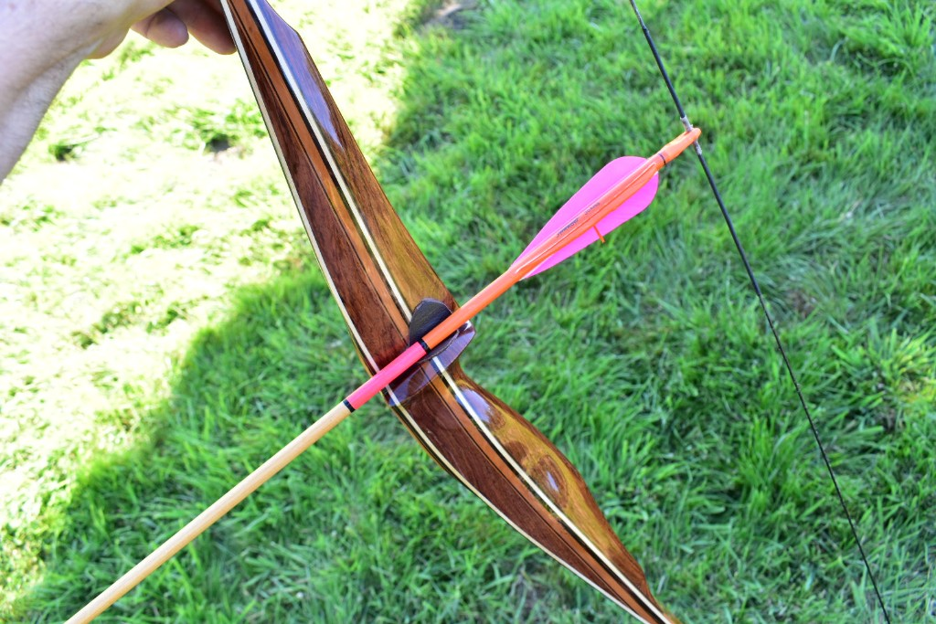Sharons bow and arrow set up