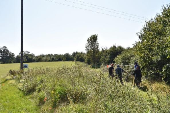 Open field shot on A course